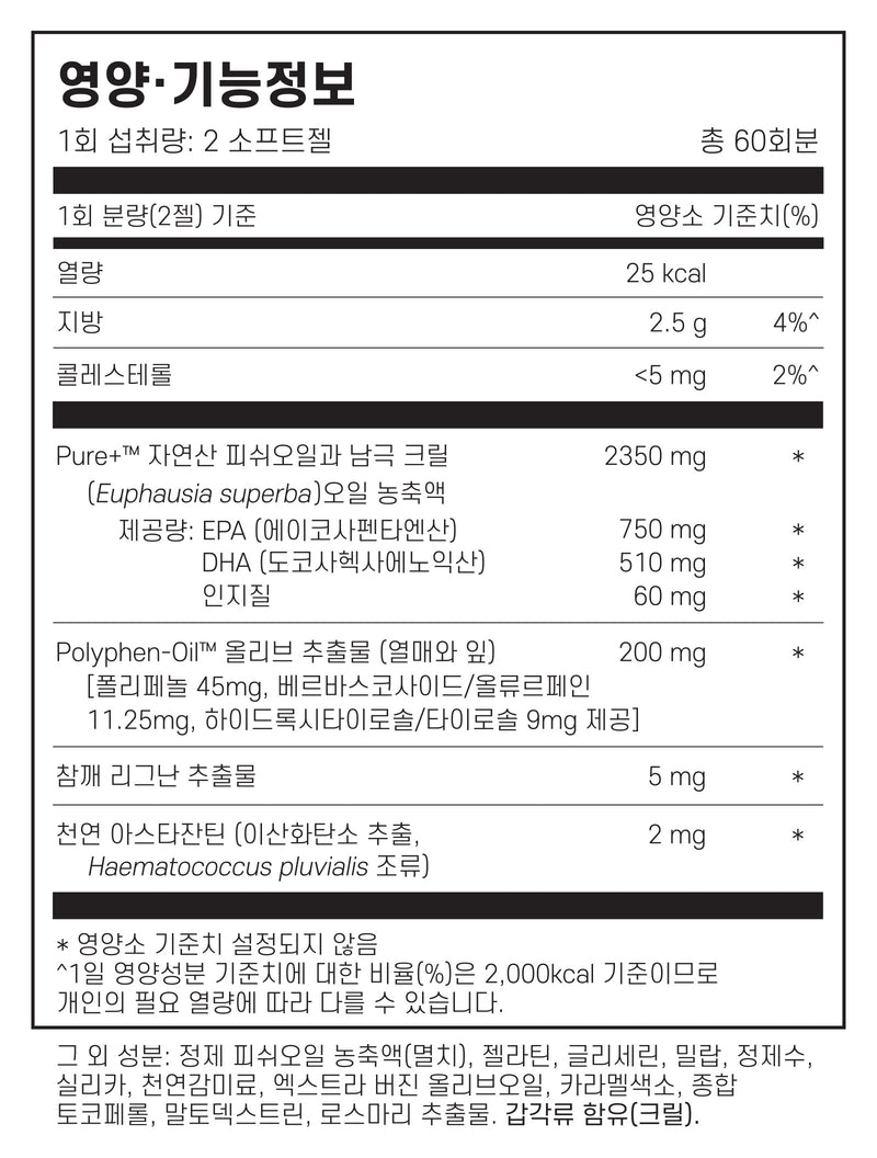 닥터조스토어 크릴 오메가 3 2개 묶음 - Dr.Cho Store Buy All Two Omega 3 krill & Astaxanthin 120 softgel
