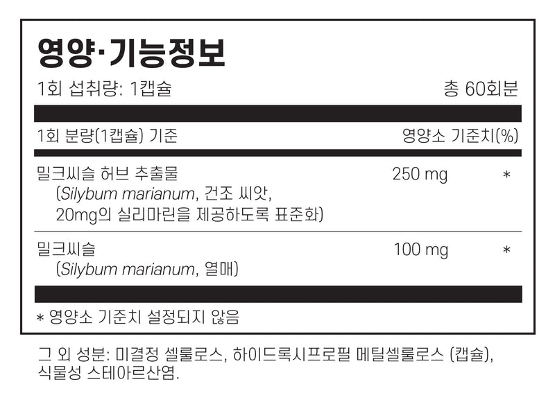 필로소피 밀크씨슬 실리마린 60캡슐 - Philosophy Nutrition Silymarin Milk Thistle 60 cap
