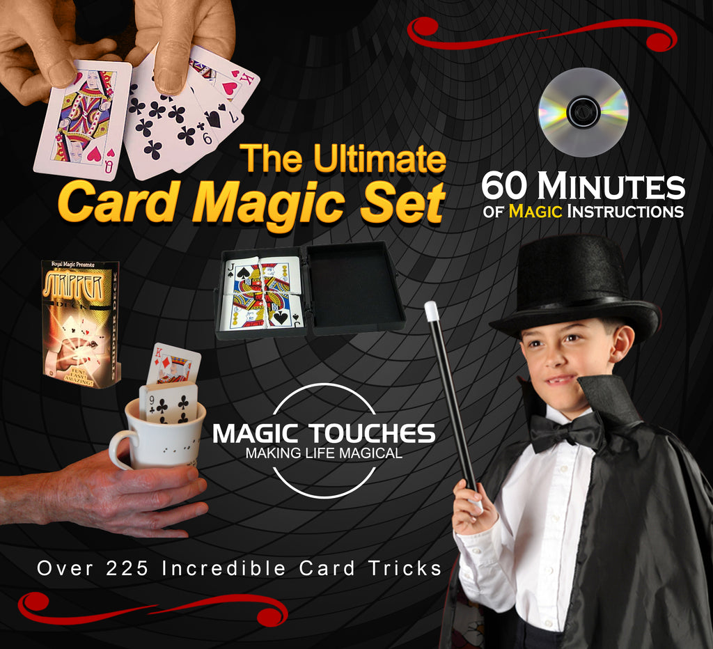 Magic Card Tricks Set - The Ultimate Card Magic Set for Kids and Grown-ups Alike - Over 300 Incredible Card Tricks Revealed in This Amazing Magic Set - Made in USA and Includes 65 Minute DVD Tutorial