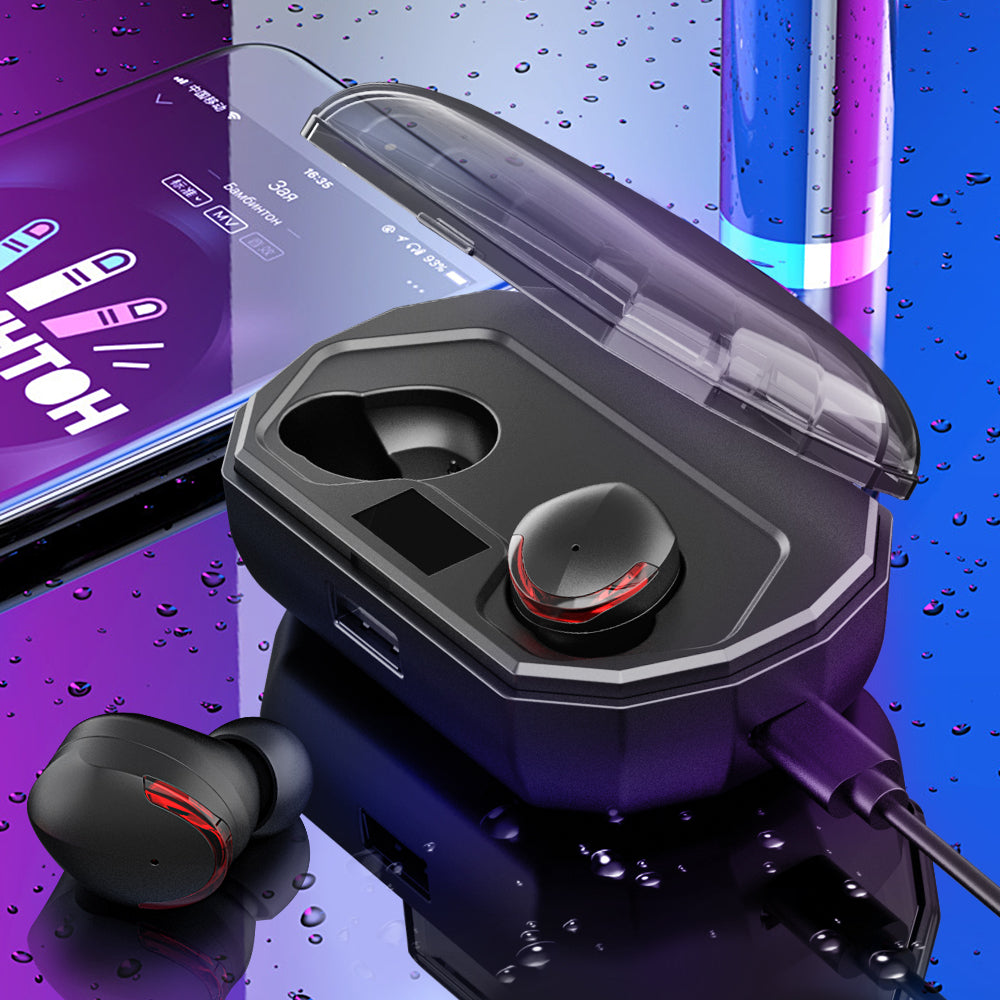 Wireless Earbuds Smart Touch Waterproof with Charging Box Power Bank