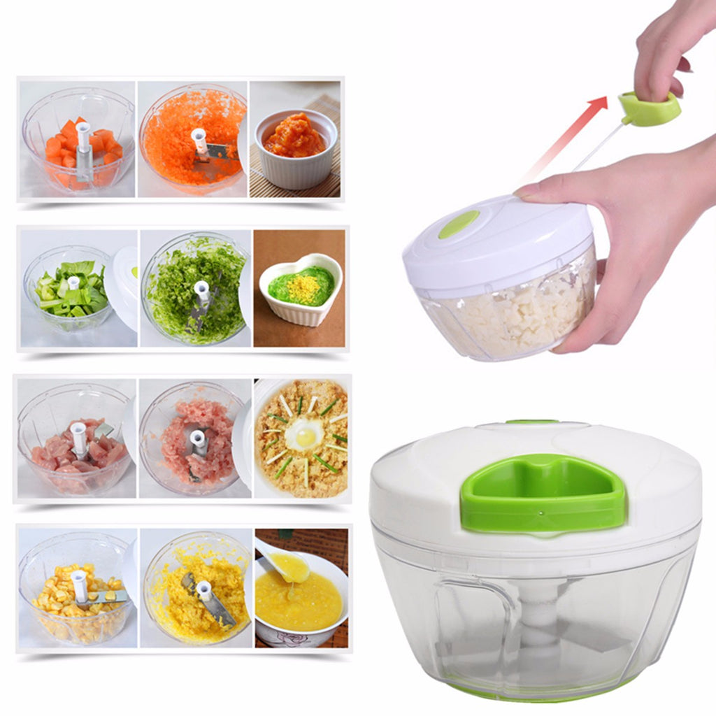 Super Manual Pull Rope Food Vegetable Blender Meat Chopper Hand Held Pulling Slicer Mincer