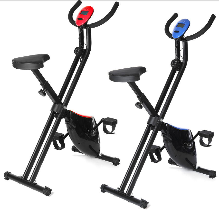 CycloFit Folding Home Gym Exercise Spin Bike - Cardio Fitness Bicycle