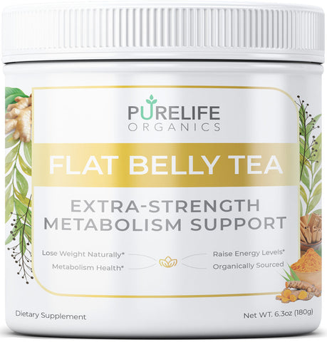 Plant - Purelife Organics - Flat Belly Tea with Extra Strength Metabolism Support