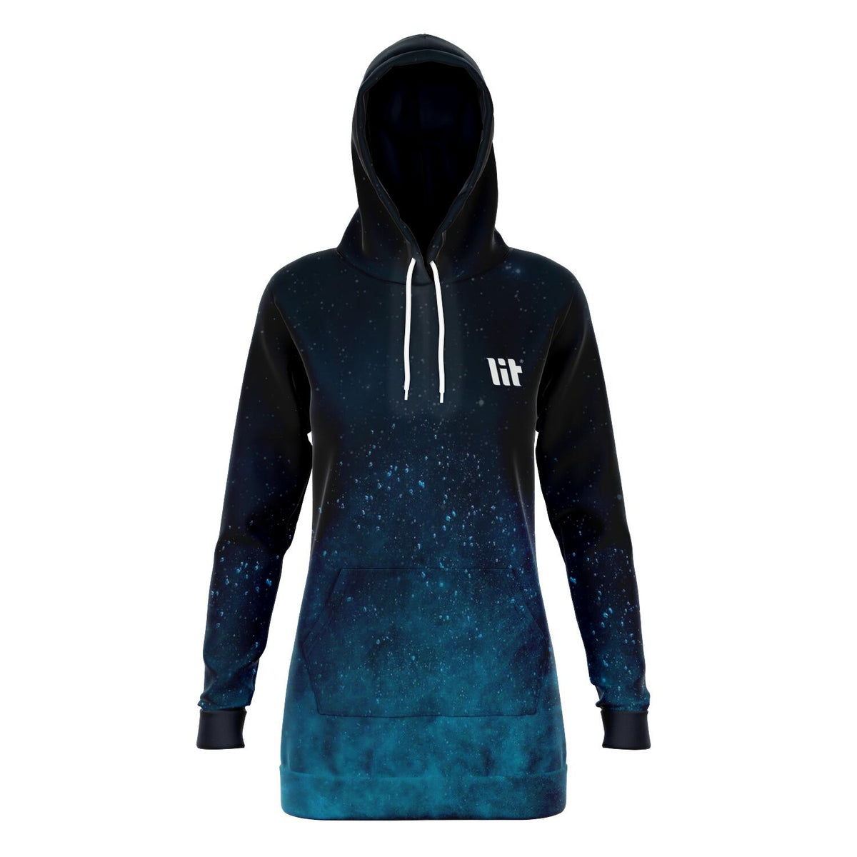 Scattered blue dust Hoodie Dress