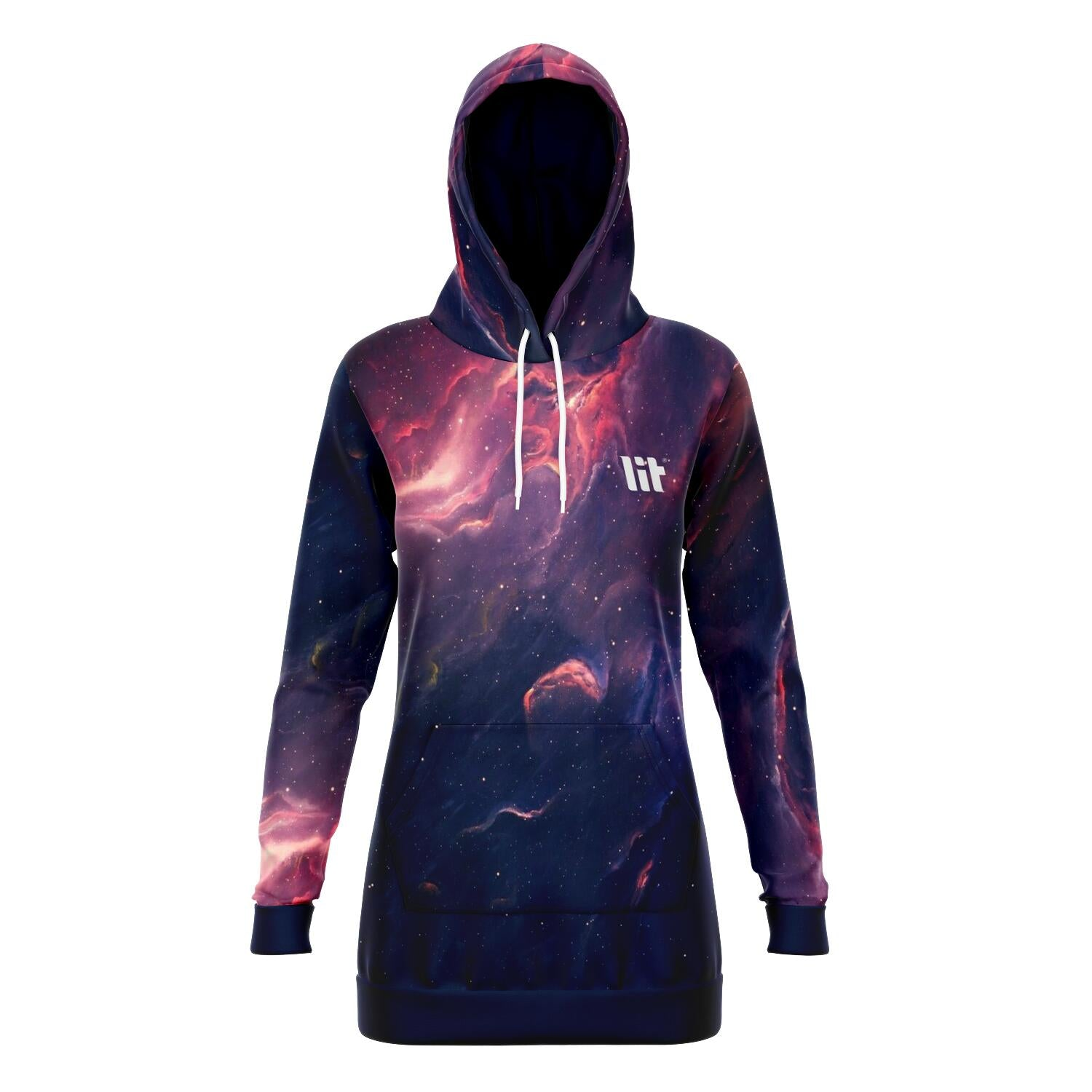 Nebula Galaxy Hoodie Dress