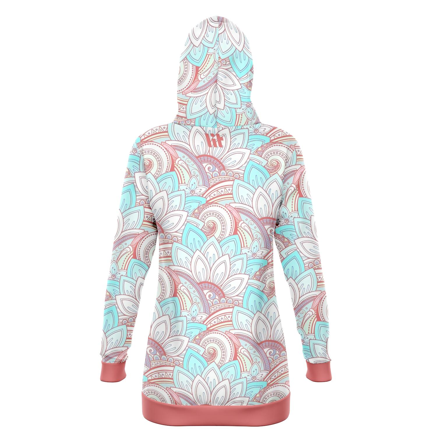 Trippy Pattern Hoodie Dress
