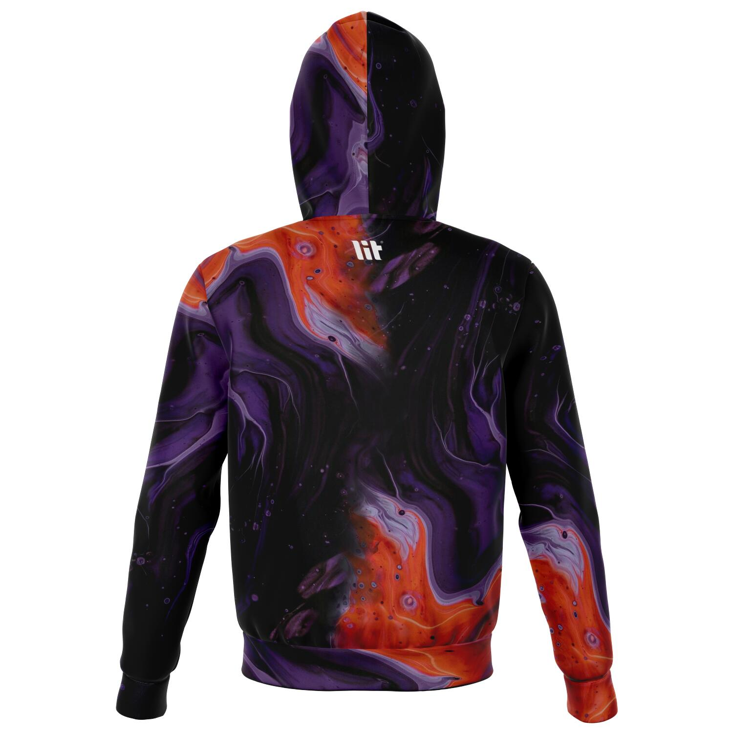 Through the fire all over print zip up hoodie unisex - front image