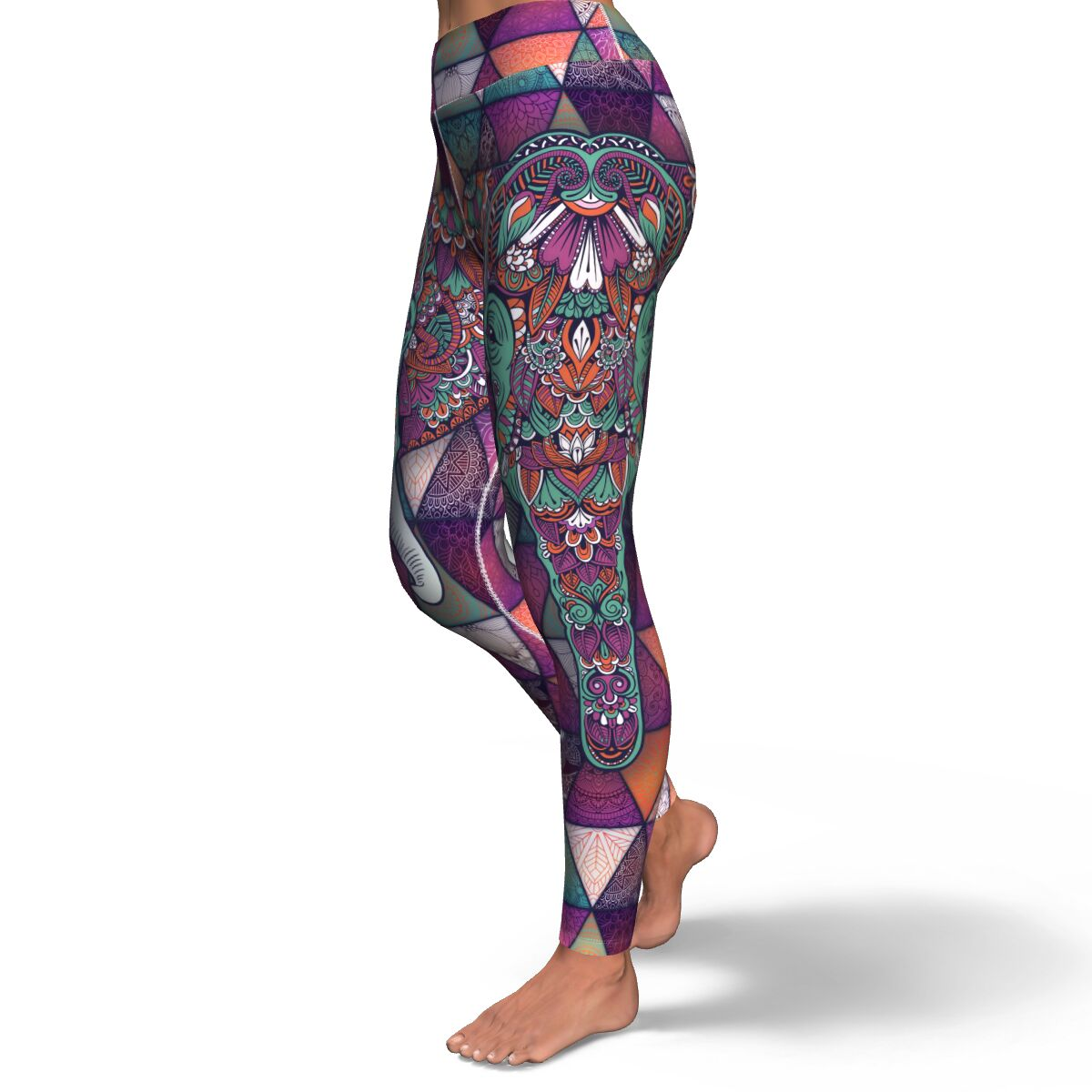 Mandala Elephant Women's Yoga Leggings