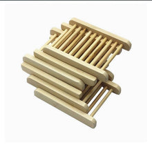 Load image into Gallery viewer, Eco Friendly Bamboo Soap Tray