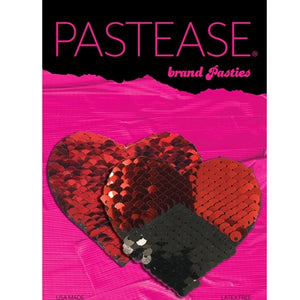 PASTEASE DOUBLE SEQUIN HEARTS