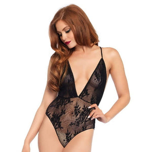 TEDDY DEEP V FLORAL LACE