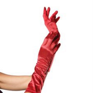ELBOW LENGTH SATIN GLOVES