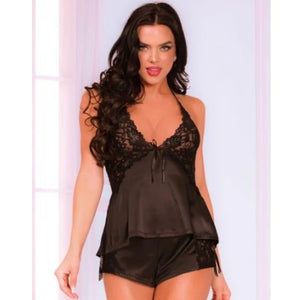 PIJAMA CORTA SATIN AND LACE