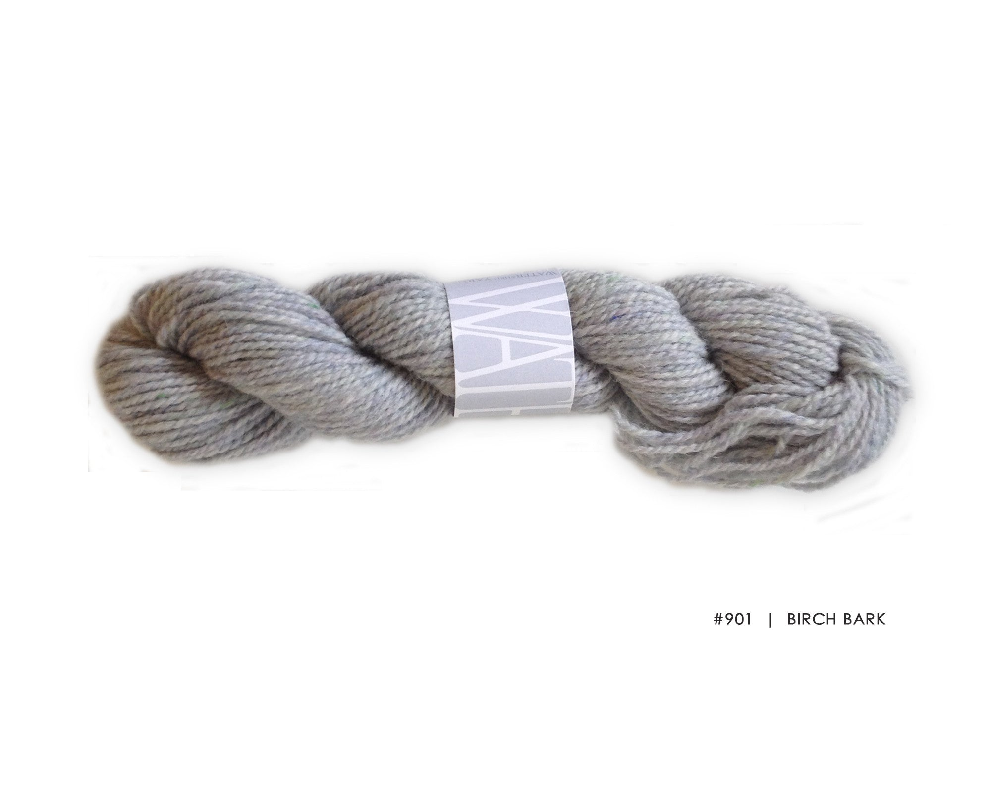 Watershed yarn from Harrisville Designs, worsted weight 100% wool. Soft spun, super heathered, super cushy! Birch Bark