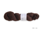 Watershed yarn from Harrisville Designs, worsted weight 100% wool. Soft spun, super heathered, super cushy! Elm