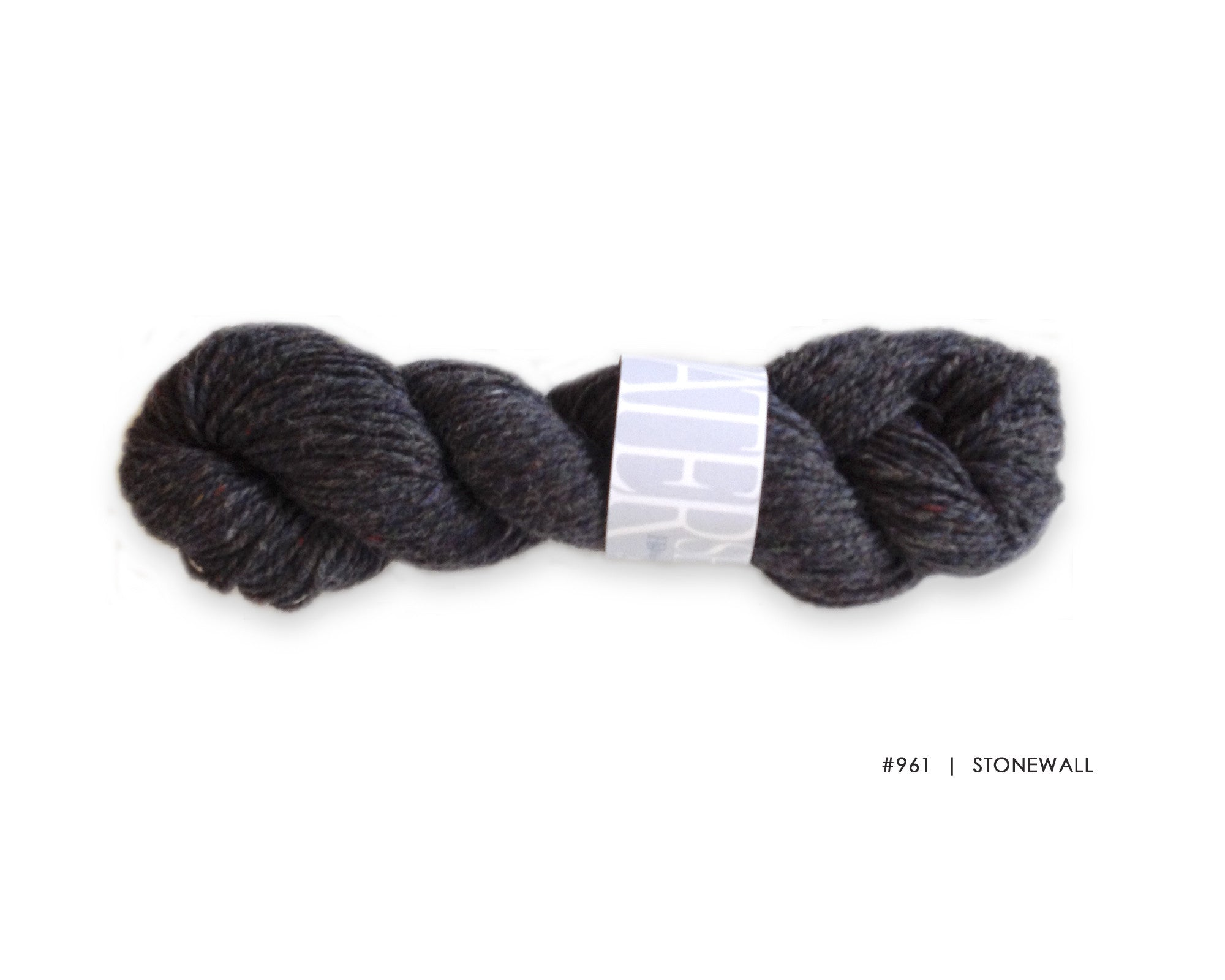 Watershed yarn from Harrisville Designs, worsted weight 100% wool. Soft spun, super heathered, super cushy! Stonewall