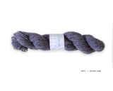 Watershed yarn from Harrisville Designs, worsted weight 100% wool. Soft spun, super heathered, super cushy! Silver Lake