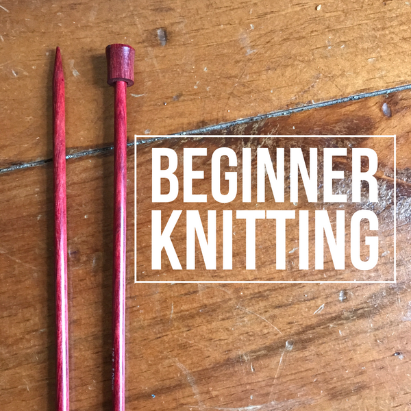 Beginner knitting Tuesday nights at DownTown Knits in Apex, NC.