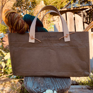 Coco Knits Kraft Caddy in Olive
