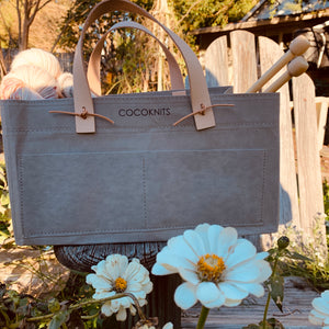 Coco Knits Kraft Caddy in Gray