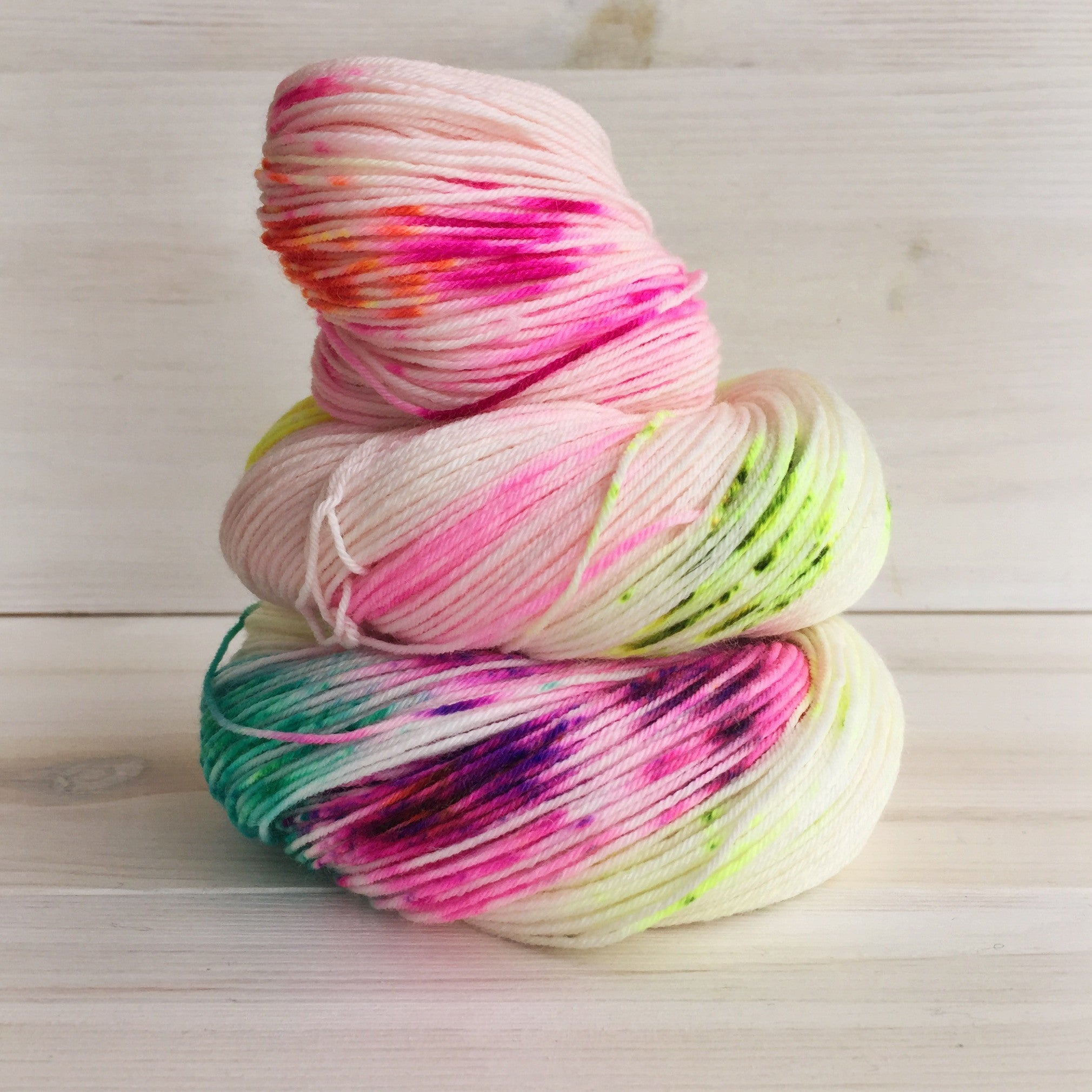 Hey Lady Hey Superwash Merino and Nylon Blend DK Yarn - Hey Cupcake
