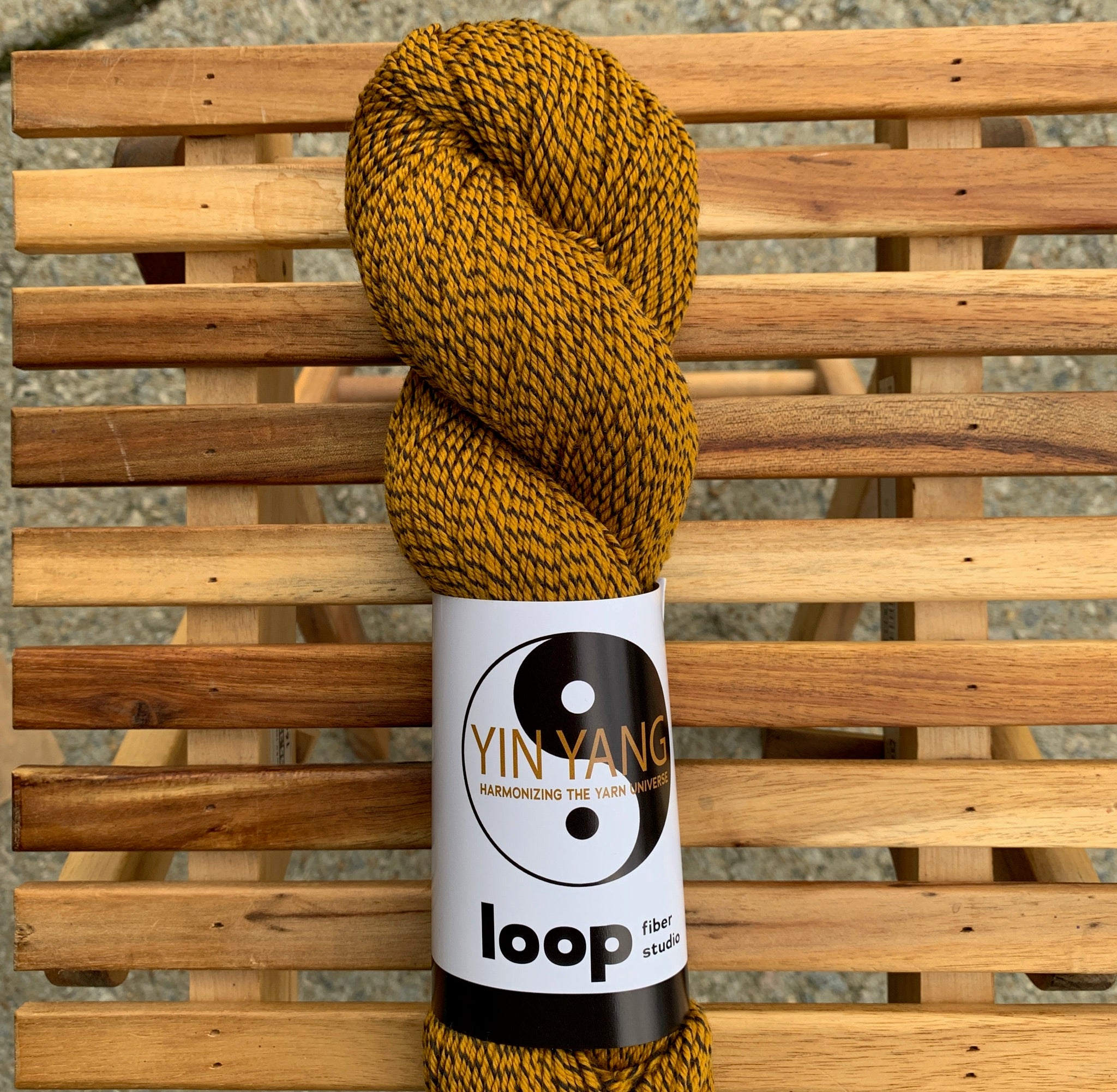 Loop Fiber Studio Yin Yang Fingering in Lions & Tigers