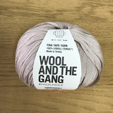 Tina Tape yarn is new from Wool and the Gang! Tencel is sourced from eucalyptus trees, vegan, and good for the environment. Softer than silk and light as air! Timberwolf