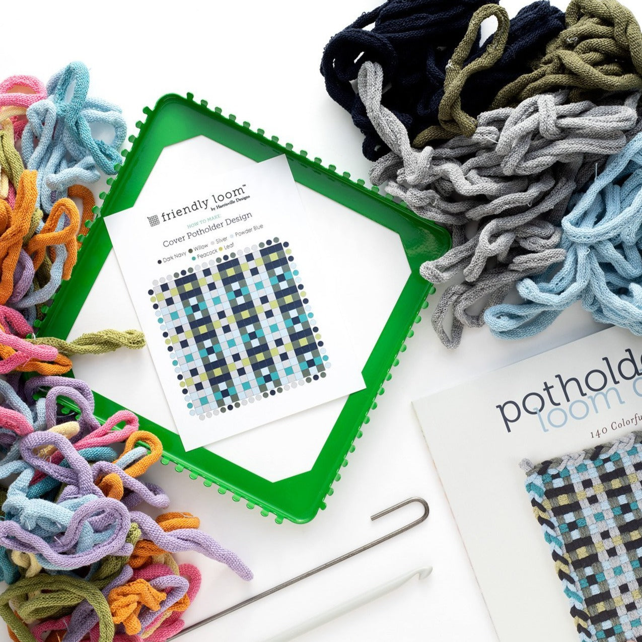 Potholder Loom, Design Book, & Supplies