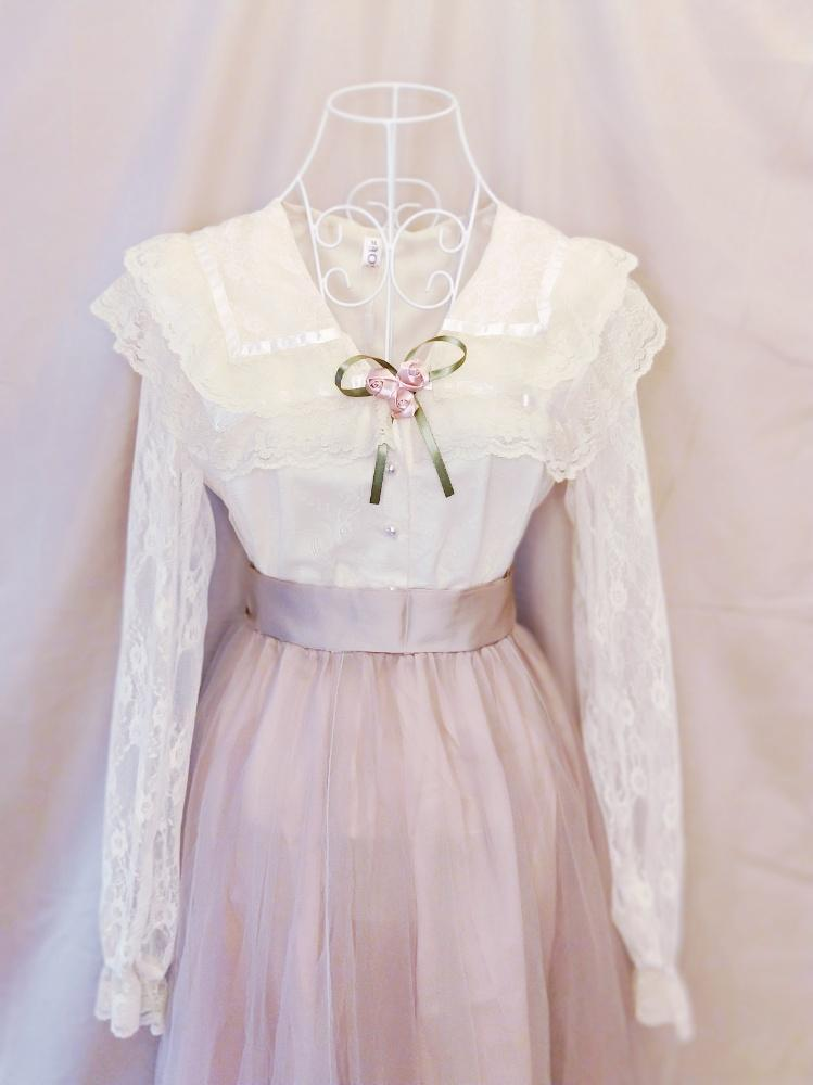 Blushing Lavender (blouse+skirt)