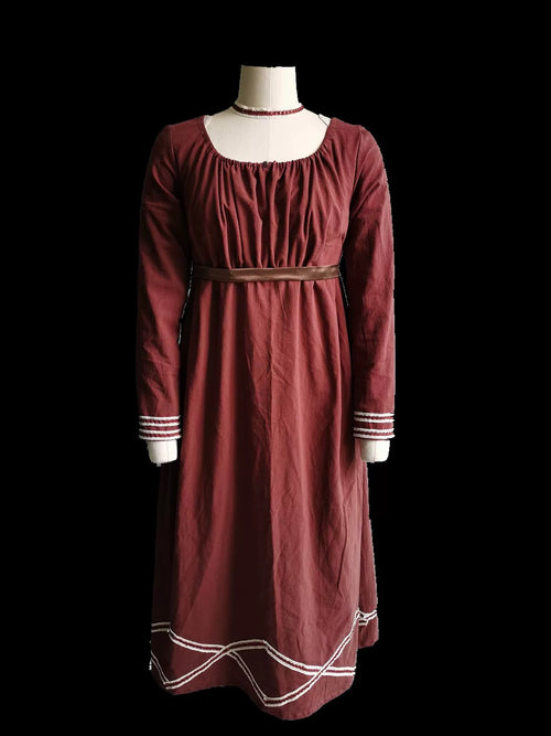 """Pride and Prejudice"" Brown Regency Dress"