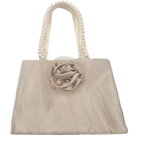 Vintage cream rose bag