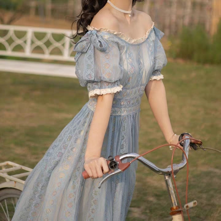 Blue Lace Princess Dress