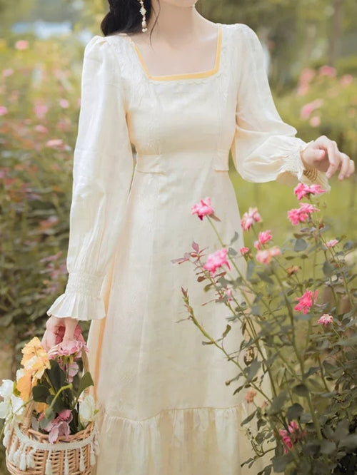 Long Sleeve Lady Camomile Dress
