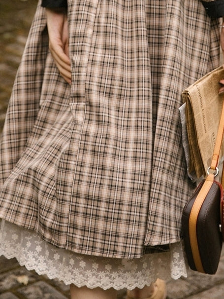 Latte Gingham Dress