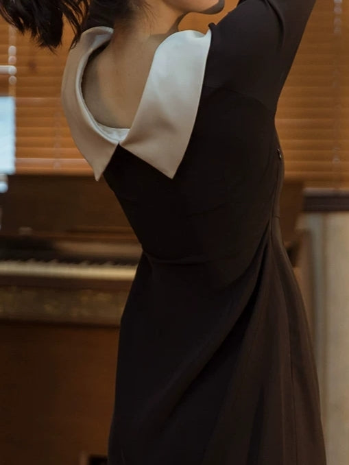 Hepburn's Black Pencil Dress