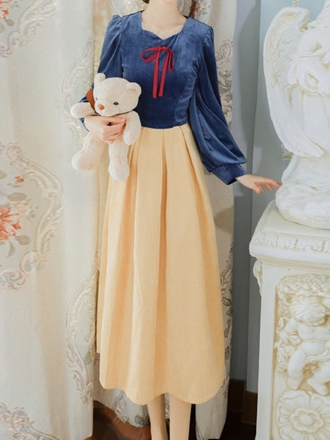 Snow White Velvet Set