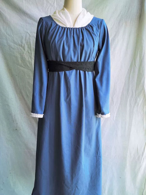 """Becoming Jane"" Blue Regency Dress"