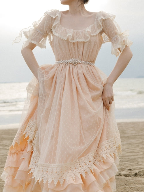 Peach Doll Dress