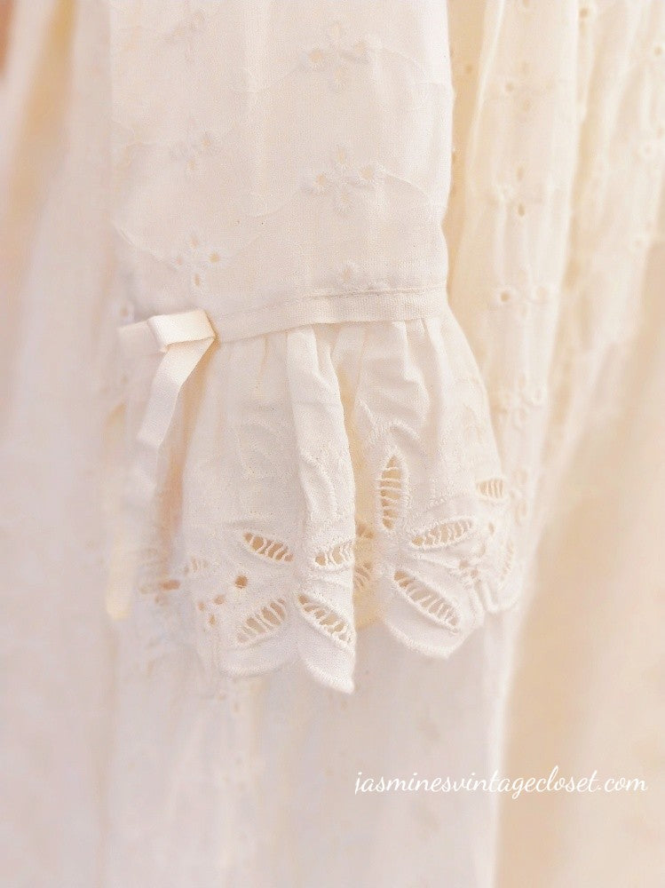 Dainty lace cotton dress