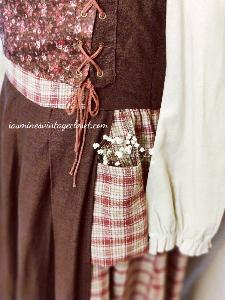 Young Peasant Girl dress (headkerchief included)