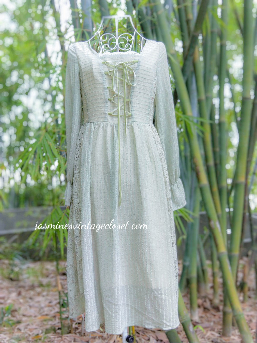 Morning Dew Lace-up Dress