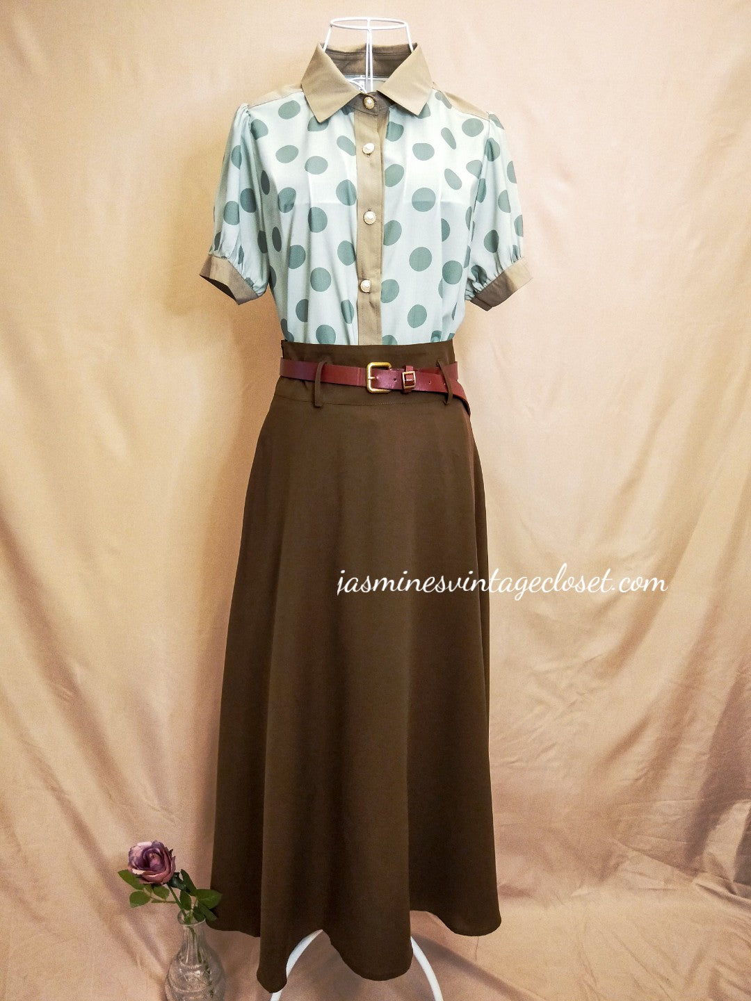 Code Girl Blouse+Skirt Set