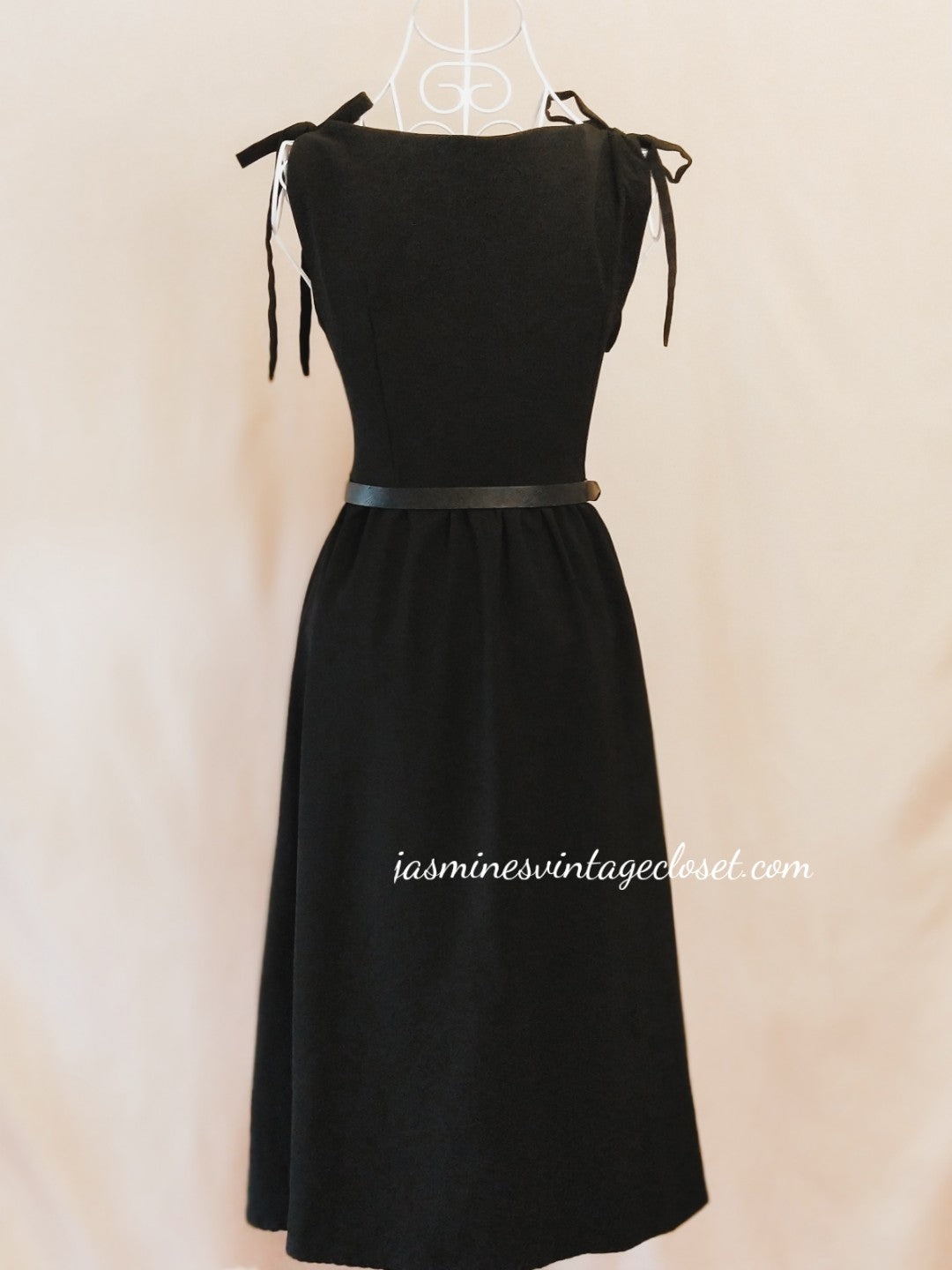 Hepburne's black midi dress