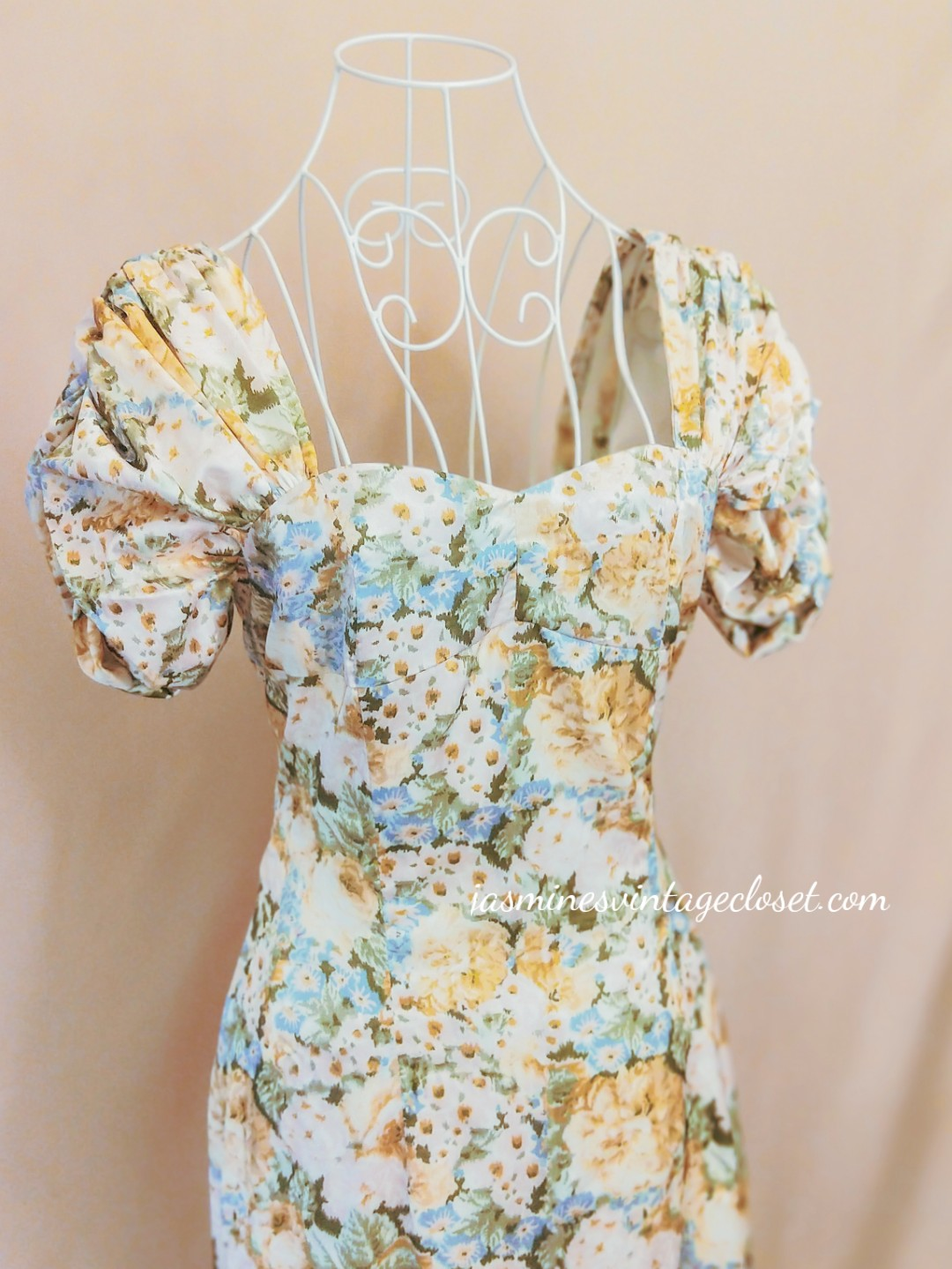 Yellow oil painting floral dress