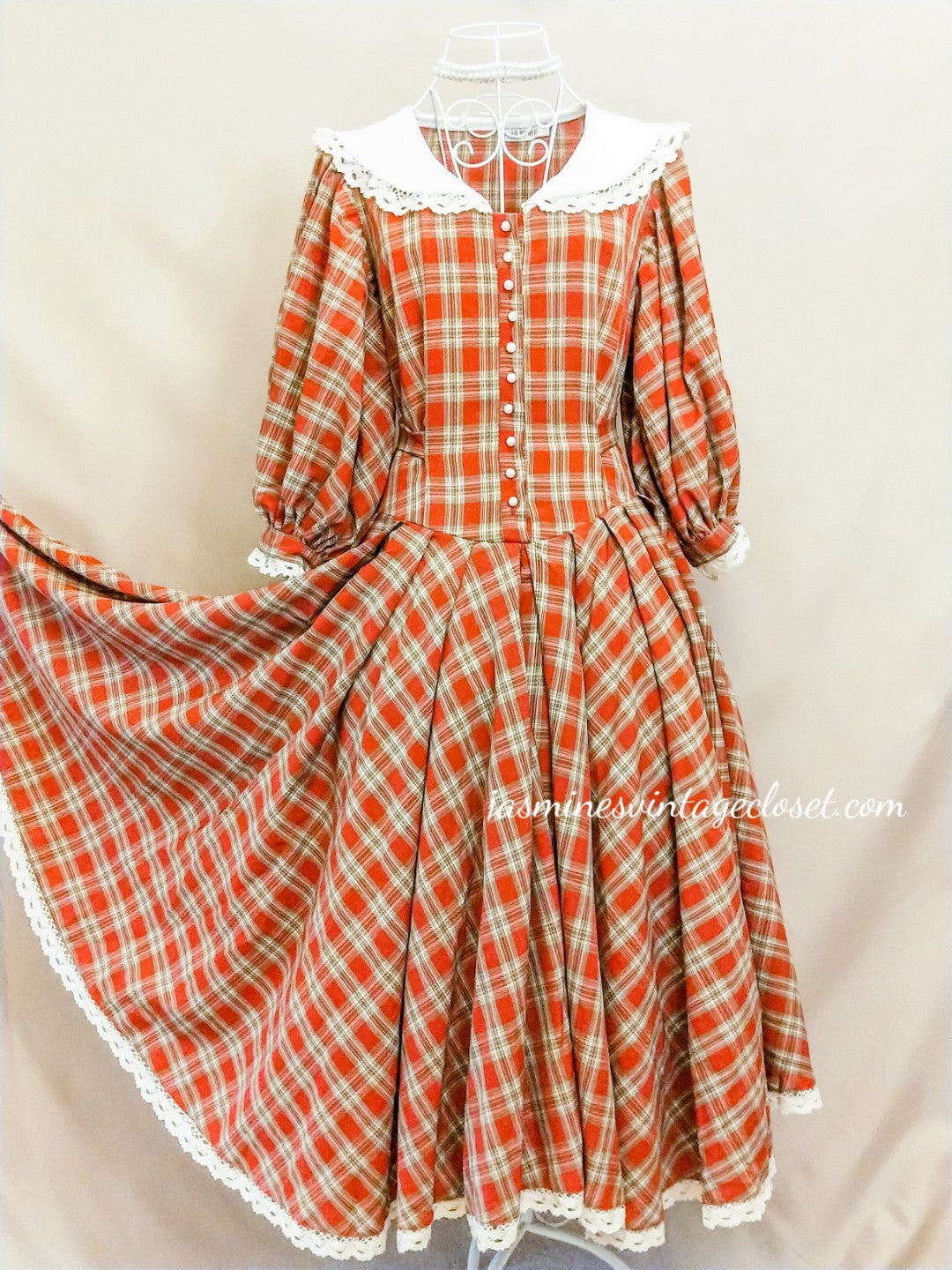 Victorian Tartan Doll Dress