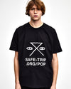 SAFE-TRIP.ORG/POP T-Shirt Black