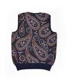 Pop Knitted Paisley Spencer Navy/Brown