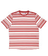 Pop Striped T-Shirt Pepper Red/Off White