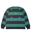 Pop Striped Rugby Shirt Navy/Kelly Green