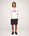 Pop Arch Hooded Sweat Off White Heather